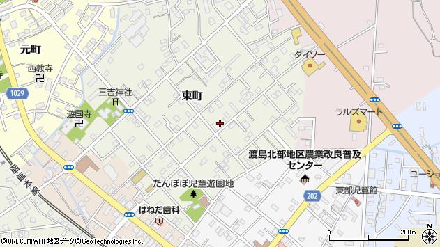 〒049-3102 北海道二海郡八雲町東町の地図