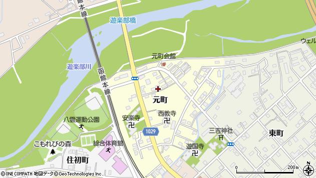 〒049-3101 北海道二海郡八雲町元町の地図