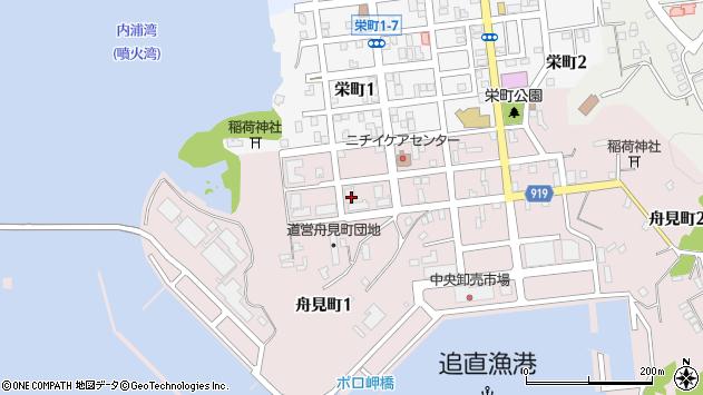 〒051-0013 北海道室蘭市舟見町の地図