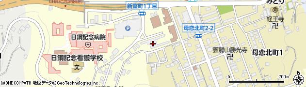 日本製鋼所新富寮周辺の地図