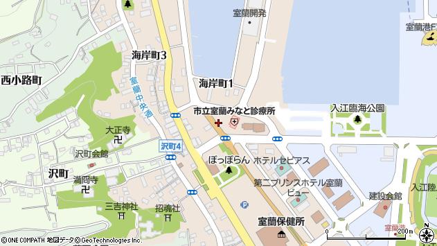 〒051-0022 北海道室蘭市海岸町の地図