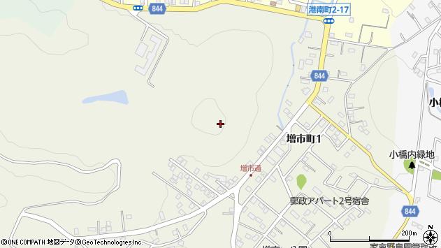 〒051-0034 北海道室蘭市増市町の地図