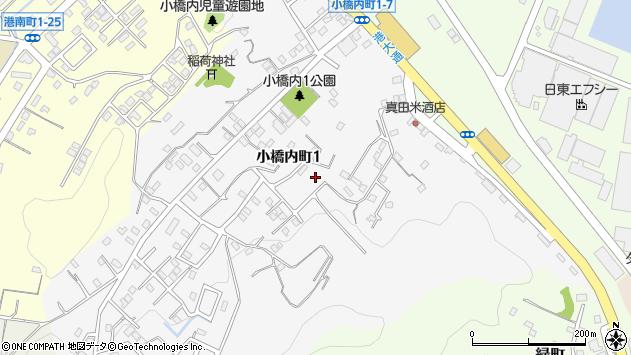 〒051-0033 北海道室蘭市小橋内町の地図