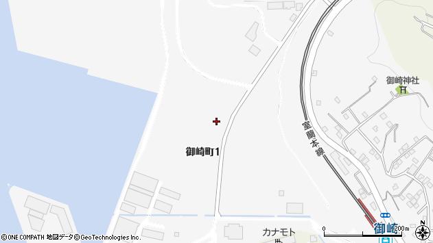 〒051-0001 北海道室蘭市御崎町の地図