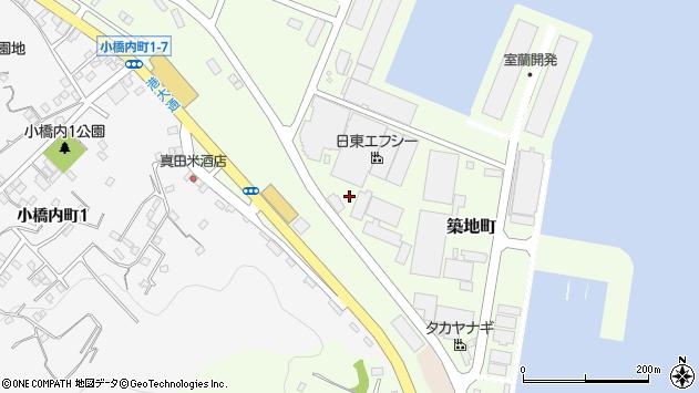 〒051-0031 北海道室蘭市築地町の地図