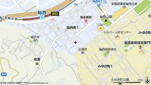 〒050-0085 北海道室蘭市輪西町の地図