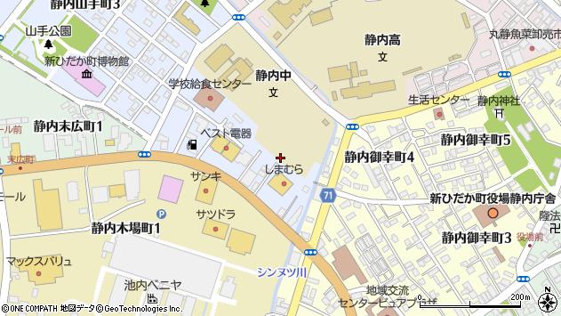 〒056-0024 北海道日高郡新ひだか町静内山手町の地図