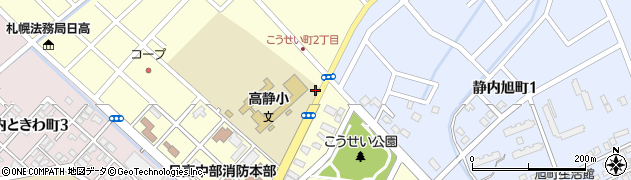高静小学校前周辺の地図