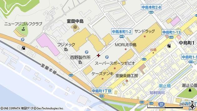 〒050-0075 北海道室蘭市中島本町の地図