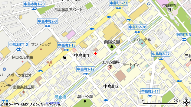 〒050-0074 北海道室蘭市中島町の地図