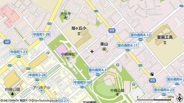 〒050-0073 北海道室蘭市宮の森町の地図