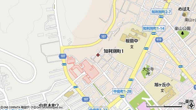 〒050-0076 北海道室蘭市知利別町の地図