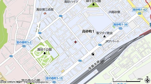 〒050-0072 北海道室蘭市高砂町の地図