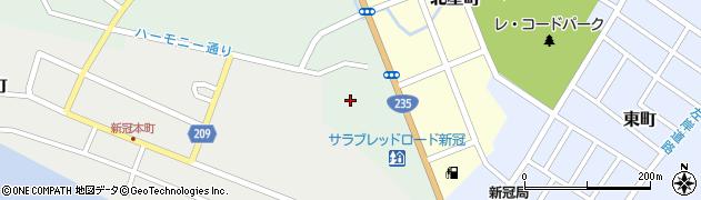 新冠町図書プラザ周辺の地図