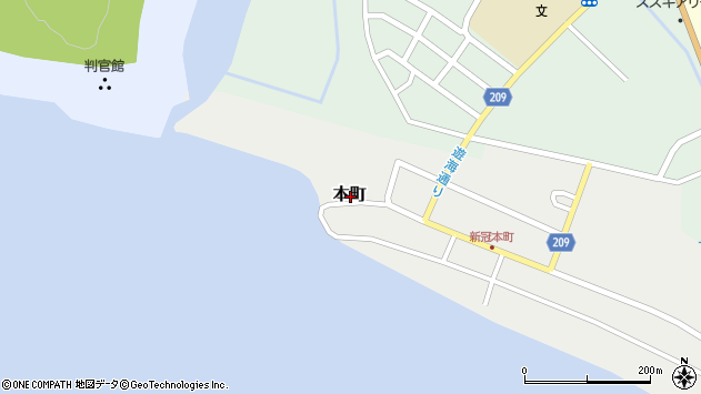〒059-2401 北海道新冠郡新冠町本町の地図