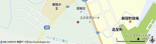 新冠町役場 新冠町老人憩の家ゲートボール場周辺の地図