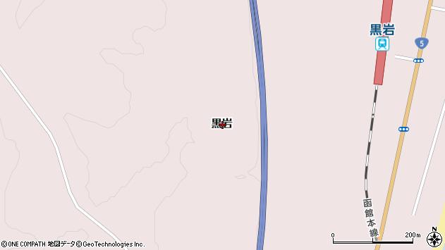 〒049-3341 北海道二海郡八雲町黒岩の地図