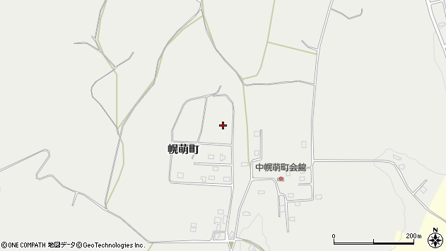 〒050-0066 北海道室蘭市幌萌町の地図