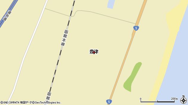 〒049-3464 北海道山越郡長万部町豊津の地図