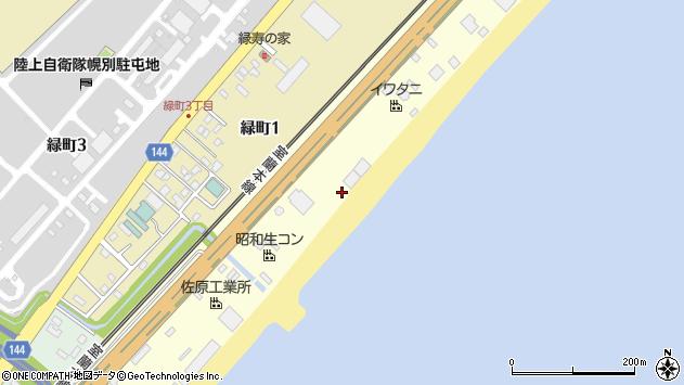 〒059-0025 北海道登別市大和町の地図
