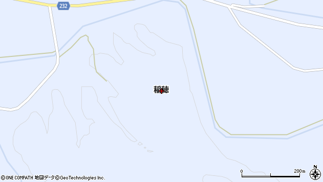 〒049-4325 北海道瀬棚郡今金町稲穂の地図