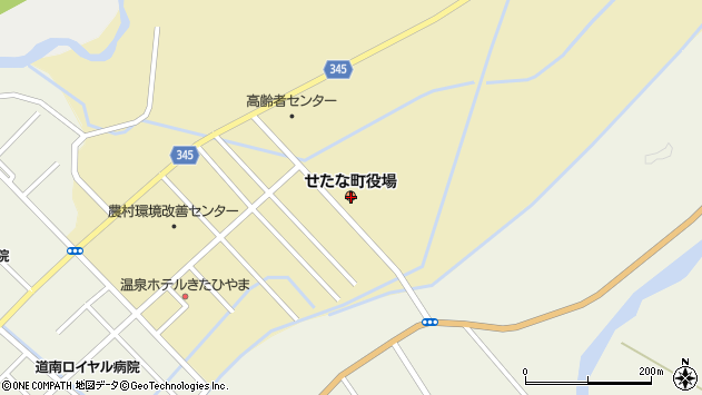 〒049-4500 北海道久遠郡せたな町(以下に掲載がない場合)の地図