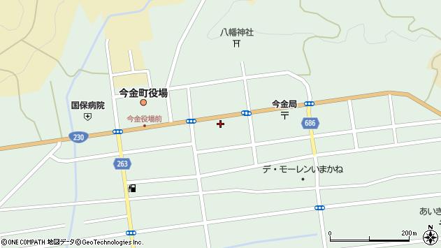〒049-4314 北海道瀬棚郡今金町昭和町の地図