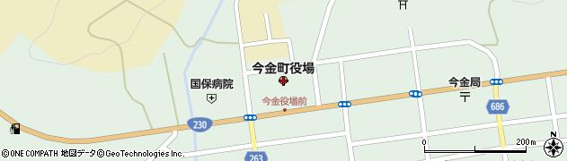 北海道瀬棚郡今金町周辺の地図