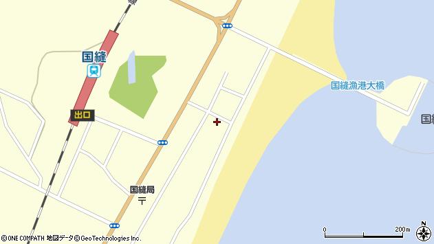 〒049-3462 北海道山越郡長万部町国縫の地図
