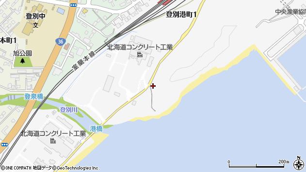 〒059-0466 北海道登別市登別港町の地図