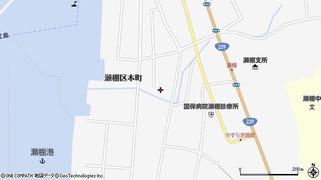 〒049-4813 北海道久遠郡せたな町瀬棚区本町8区の地図