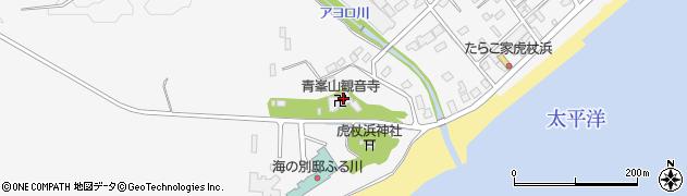 青峯山観音寺周辺の地図
