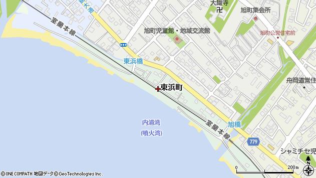 〒052-0016 北海道伊達市東浜町の地図