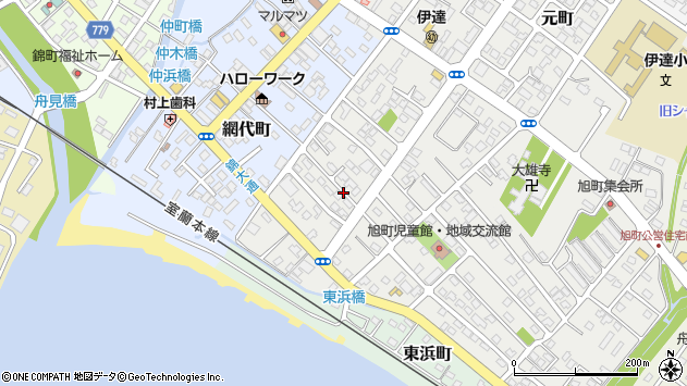 〒052-0015 北海道伊達市旭町の地図