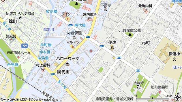 〒052-0025 北海道伊達市網代町の地図
