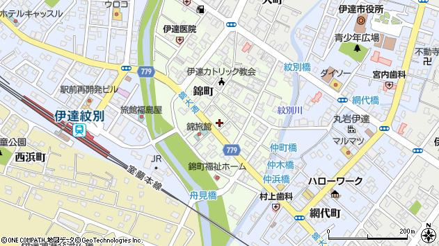 〒052-0026 北海道伊達市錦町の地図