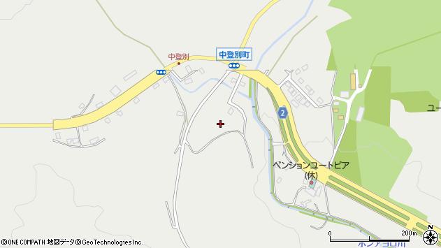 〒059-0463 北海道登別市中登別町の地図