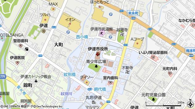 〒052-0000 北海道伊達市(以下に掲載がない場合)の地図