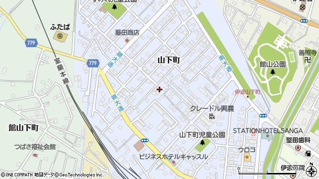 〒052-0032 北海道伊達市山下町の地図