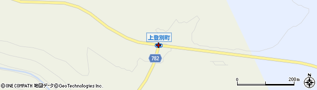 上登別町周辺の地図