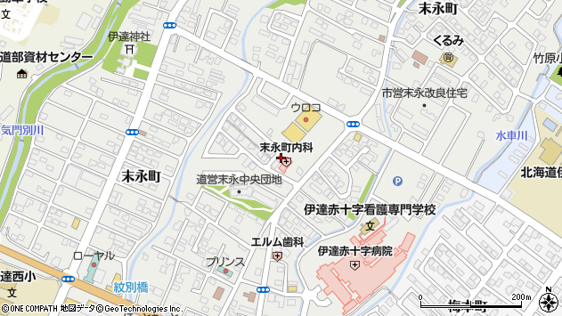 〒052-0021 北海道伊達市末永町の地図