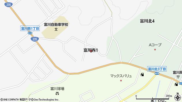 〒055-0007 北海道沙流郡日高町富川西の地図