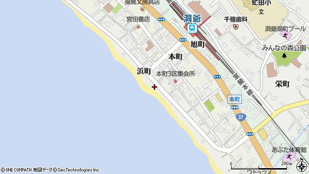 〒049-5614 北海道虻田郡洞爺湖町浜町の地図
