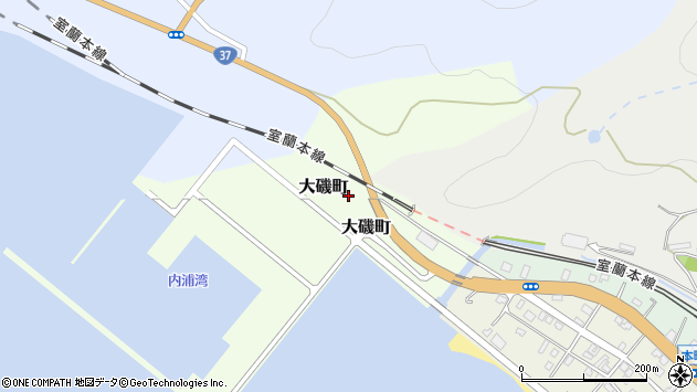 〒049-5612 北海道虻田郡洞爺湖町大磯町の地図