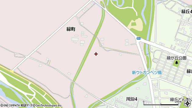 〒059-0913 北海道白老郡白老町緑町の地図