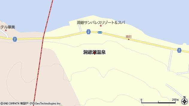 〒052-0107 北海道有珠郡壮瞥町洞爺湖温泉(その他)の地図