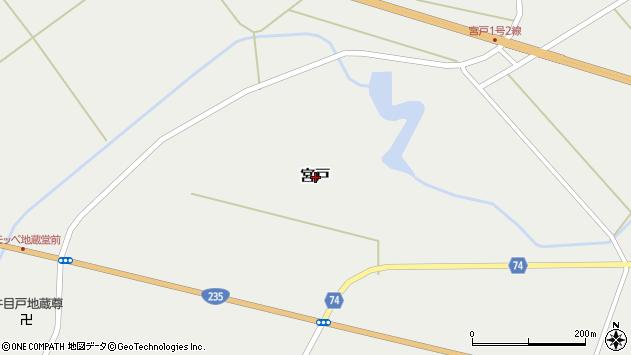 〒054-0016 北海道勇払郡むかわ町宮戸の地図