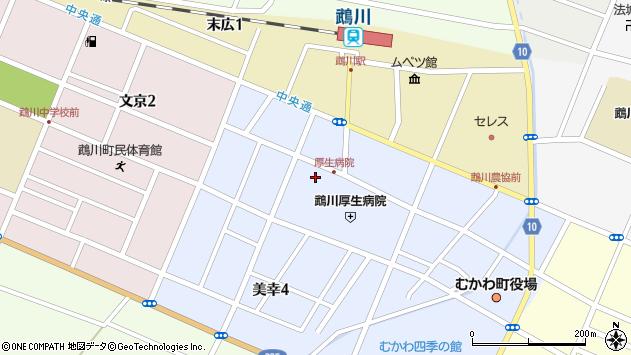 〒054-0042 北海道勇払郡むかわ町美幸の地図