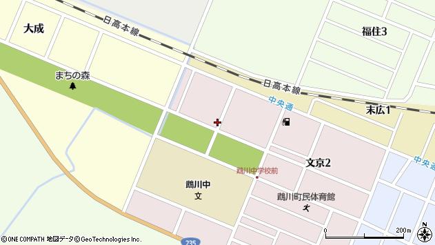 〒054-0051 北海道勇払郡むかわ町文京の地図
