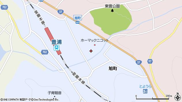 〒049-5412 北海道虻田郡豊浦町旭町の地図